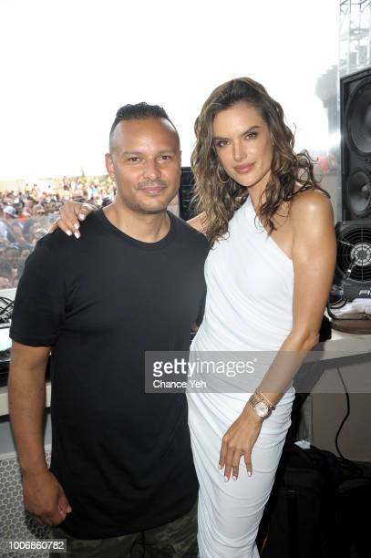Richie Santana and Alessandra Ambrosio attend HQ2 Beachclub at Ocean Resort Casino on July 28 2018 in Atlantic City New Jersey