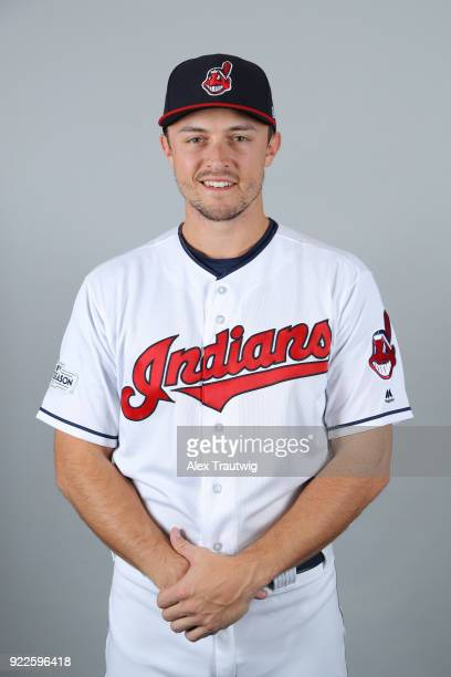 Richie Shaffer of the Cleveland Indians poses during Photo Day on Wednesday February 21 2018 at Goodyear Ballpark in Goodyear Arizona