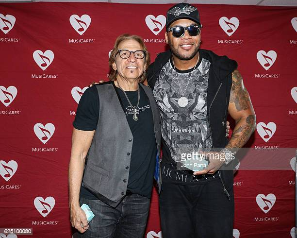 Richie Supa and Flo Rida attend a special event at the Recovery Unplugged Treatment Center for MusiCares on November 22, 2016 in Fort Lauderdale,...