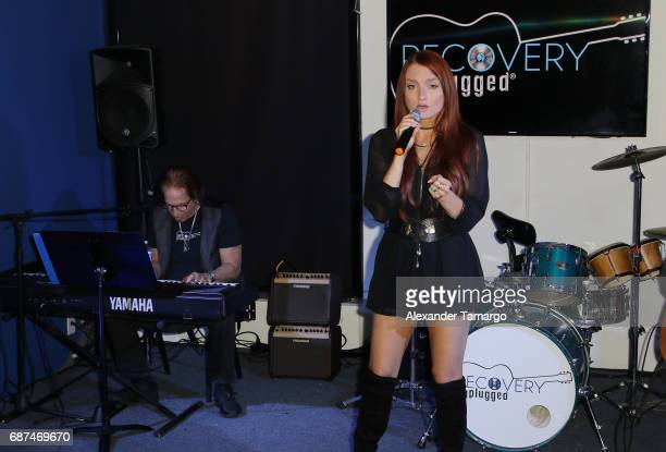 Richie Supa and Kendra Erika perform at Recovery Unplugged Treatment Center on May 23, 2017 in Ft. Lauderdale, Florida.