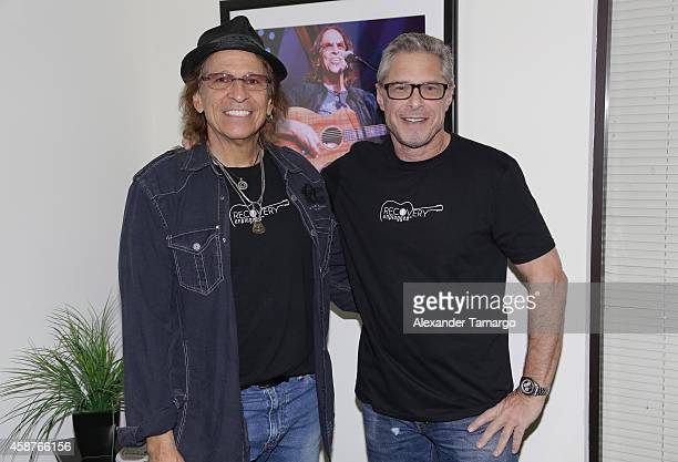 Richie Supa and Marshall Geisser are seen at Recovery Unplugged on November 10 2014 in Fort Lauderdale Florida Steven Tyler performed and spoke with...