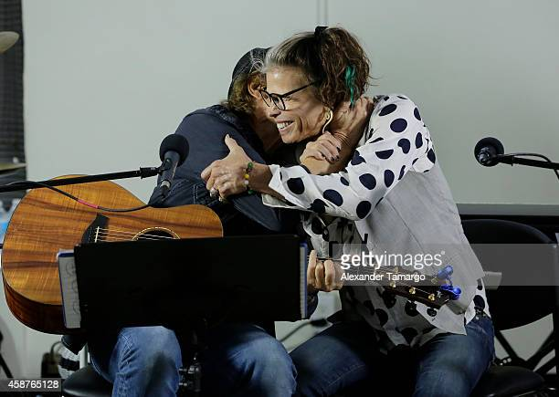 Richie Supa and Steven Tyler perform and speak with clients of Recovery Unplugged Treatment Center to provide the powerful inspirational message of...