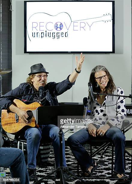 Richie Supa and Steven Tyler perform and speak with clients of Recovery Unplugged Treatment Center to provide the powerful, inspirational message of...