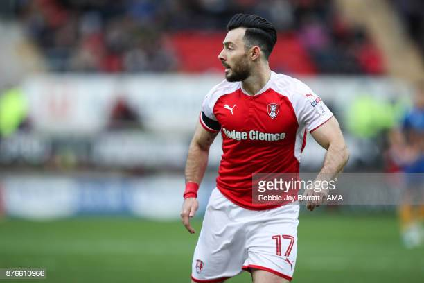 Richie Towell of Rotherham United during the Sky Bet League One match between Rotherham United and Shrewsbury Town at The New York Stadium on...