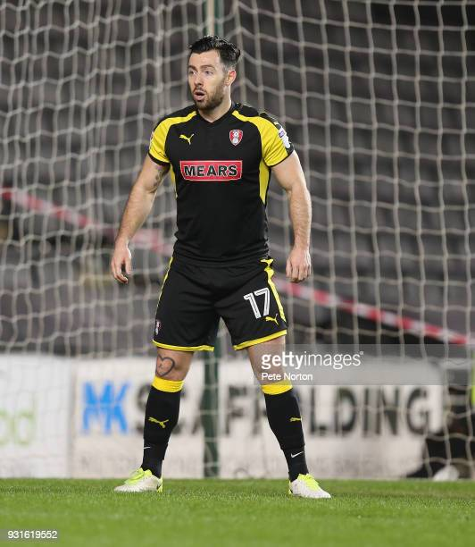 Richie Towell of Rotherham United in action during the Sky Bet League One match between Milton Keynes Dons and Rotherham United at StadiumMK on March...