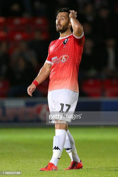 Richie Towell of Salford City during the Pre-Season Friendly match between Salford City and Woking at Moor Lane on July 19, 2019 in Salford, England.