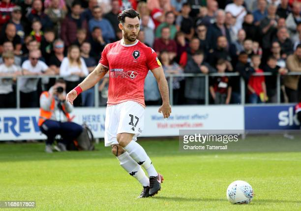 Richie Towell of Salford City during the Sky Bet League Two match between Salford City and Port Vale at Moor Lane on August 17 2019 in Salford England