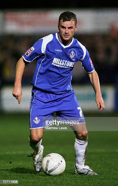 Richie Wellens of Oldham Athletic in action during the FA Cup Second Round match between Kings Lynn and Oldham Athletic at The Walks Stadium on...