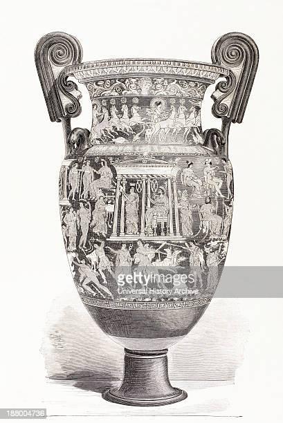 Richly Decorated Greek Vase From El Mundo Ilustrado Published Barcelona 1880