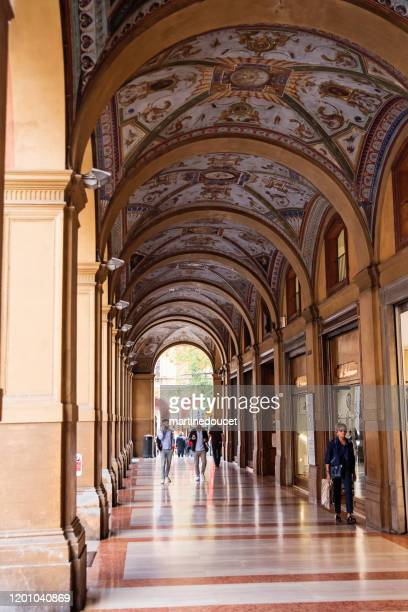 """richly decorated portico in the streets of bologna, italy. - """"martine doucet"""" or martinedoucet stock pictures, royalty-free photos & images"""