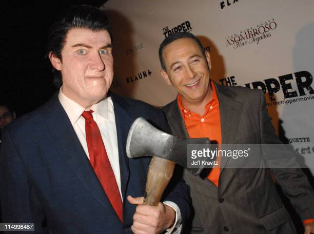 Richmond Arquette and Paul Reubens during The Tripper Los Angeles Premiere Red Carpet at Hollywood Forever Cemetary in Hollywood California United...