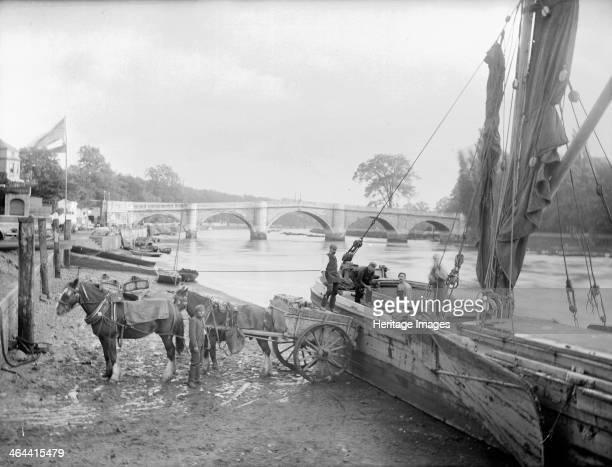 Richmond Bridge, Richmond Upon Thames, Greater London, c1860-c1922. The 18th-century bridge joining Richmond to Twickenham, the oldest surviving...