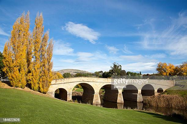 richmond bridge tasmania - hobart tasmania stock pictures, royalty-free photos & images