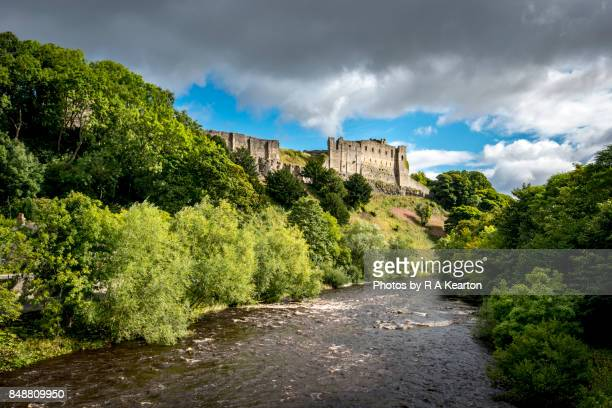 Richmond castle and the river Swale, North Yorkshire, England