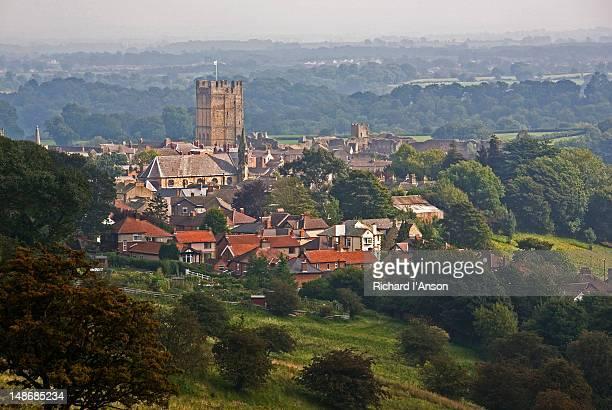 Richmond Castle and village.