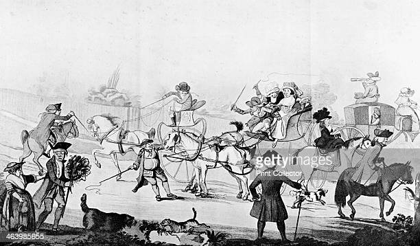 'Richmond Hill' 1782 Illustration from Social Caricature in the Eighteenth Century With over two hundred illustrations by George Paston pseudonym of...