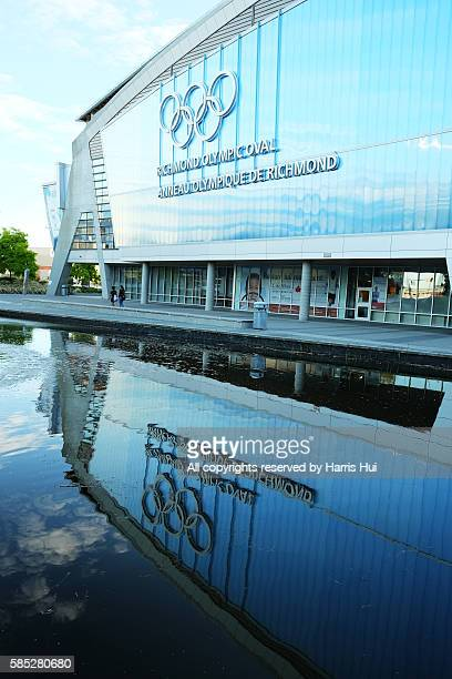 richmond olympic oval reflection - winter sports event stock pictures, royalty-free photos & images