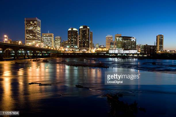 richmond pre-dawn - richmond virginia stock pictures, royalty-free photos & images