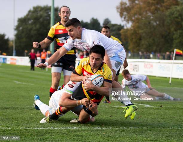 Richmond Rugbys Jono Woodward in action during todays match during the British Irish Cup Pool 4 match between Richmond and Rotherham Titans at The...
