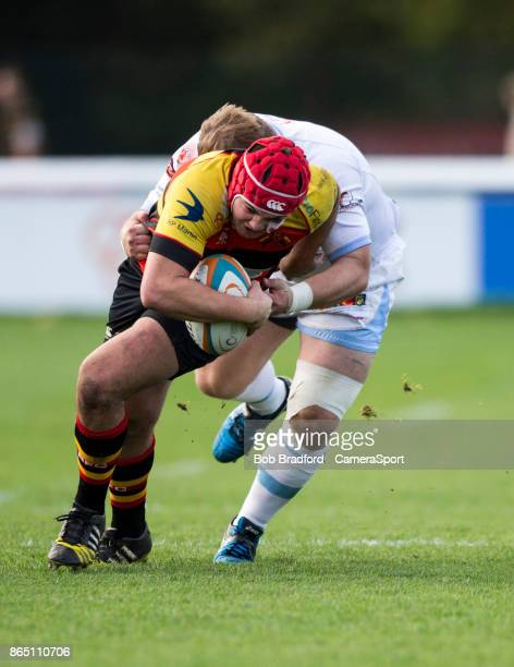 Richmond Rugbys Toby Saysell in action during todays match during the British Irish Cup Pool 4 match between Richmond and Rotherham Titans at The...