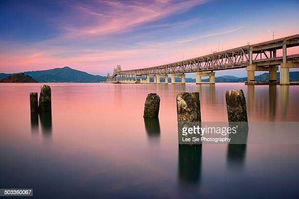 richmond san rafael bridge - san rafael california stock pictures, royalty-free photos & images