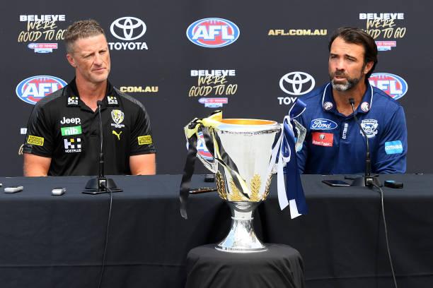 AUS: AFL Grand Final Captain's Media Opportunity