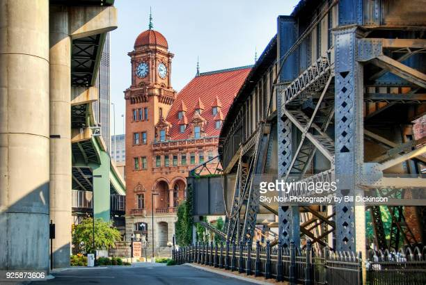 richmond train station elevated tracks - richmond virginia stock pictures, royalty-free photos & images
