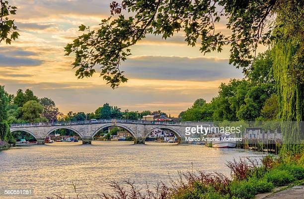 richmond upon thames bridge - richmond upon thames stock pictures, royalty-free photos & images