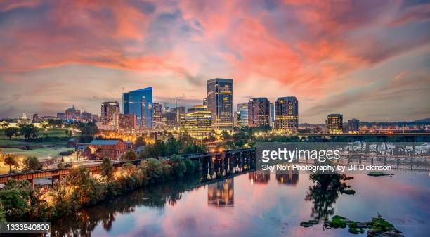 richmond virginia cityscape - richmond stock pictures, royalty-free photos & images