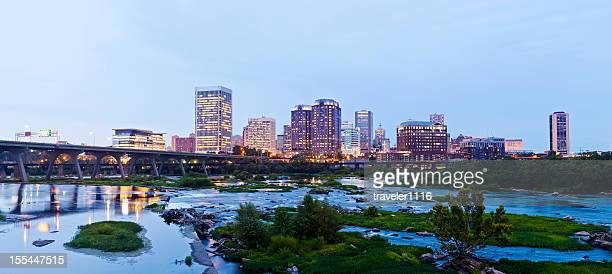 richmond, virginia, usa panorama - richmond virginia stock pictures, royalty-free photos & images