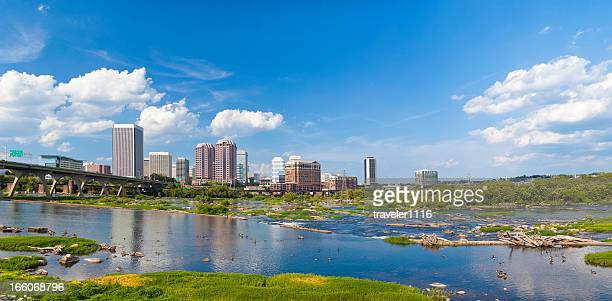 richmond, virginia xxxl panorama - richmond virginia stock pictures, royalty-free photos & images