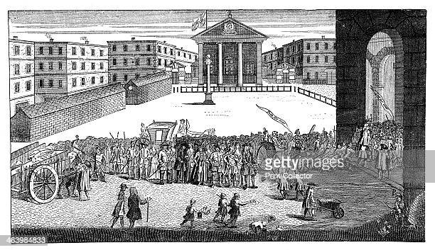 'Rich's Glory or his triumphant entry in Covent Garden' 1732 A procession marking John Rich's entry into Covent Garden On the right a carriage is...