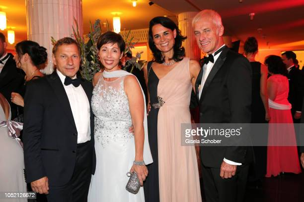 Richy Mueller and his wife Christl Stumhofer and Matthias Müller Chief Executive Officer of Volkswagen Group and his girlfriend Natalie Mekelburger...