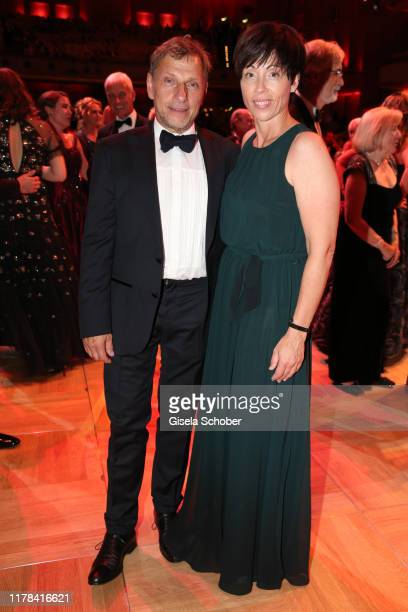 Richy Mueller and his wife Christl Stumhofer attend the 25th Leipzig Opera Ball La Dolce Vita in Suedtirol at Oper Leipzig on October 26 2019 in...