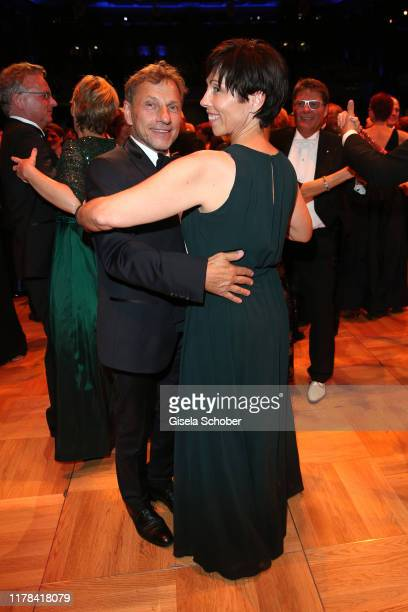 Richy Mueller and his wife Christl Stumhofer dance at the 25th Leipzig Opera Ball La Dolce Vita in Suedtirol at Oper Leipzig on October 26 2019 in...