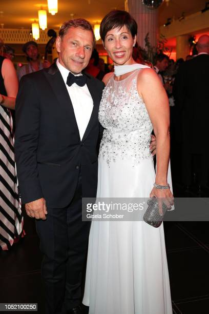 Richy Mueller and his wife Christl Stumhofer during the Leipzig Opera Ball Ahoj Cesko on October 13 2018 in Leipzig Germany