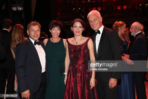 Richy Mueller Christl Stumhofer guest and Matthias Mueller Chief Executive Officer of Volkswagen Group attend the 25th Leipzig Opera Ball La Dolce...