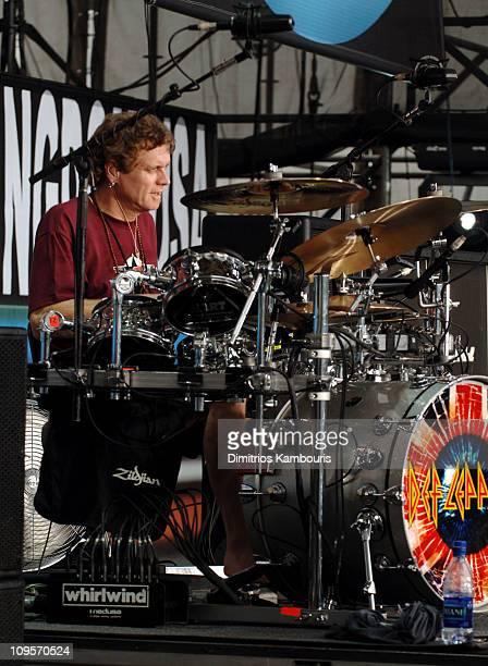 Rick Allen of Def Leppard during LIVE 8 - Philadelphia - Rehearsals at Philadelphia Museum of Art in Philadelphia, Pennsylvania, United States.