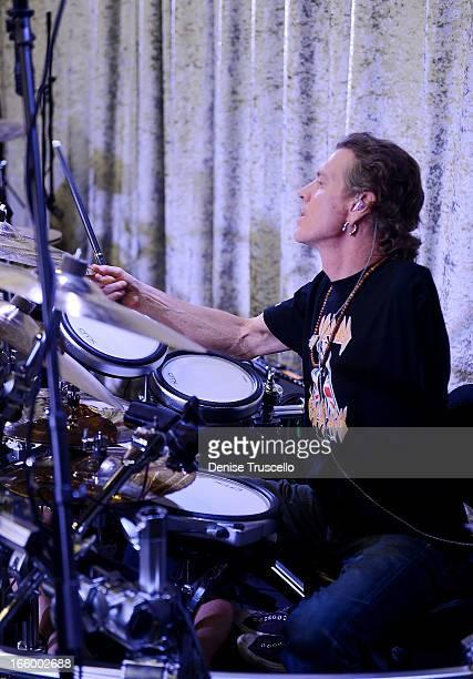 Rick Allen of Def Leppard during Rock 'n' Roll Fantasy Camp on April 7, 2013 in Las Vegas, Nevada.