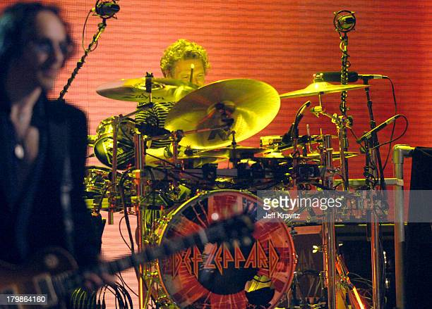 Rick Allen of Def Leppard on Drums during 2005 Spike TV Video Game Awards - Show at Gibson Amphitheater in Universal City, California, United States.