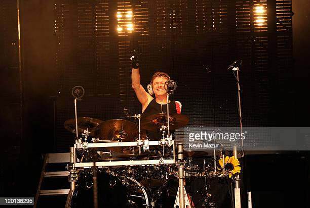 Rick Allen of Def Leppard performs at Nikon at Jones Beach Theater on July 30, 2011 in Wantagh, New York.