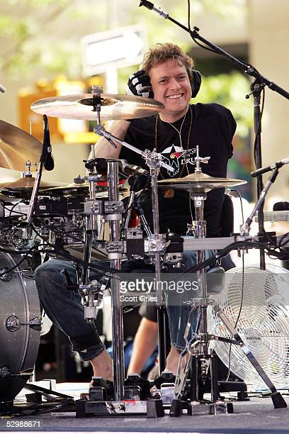 Rick Allen of Def Leppard performs during the Toyota Concert Series on the Today Show May 27 2005 in New York City