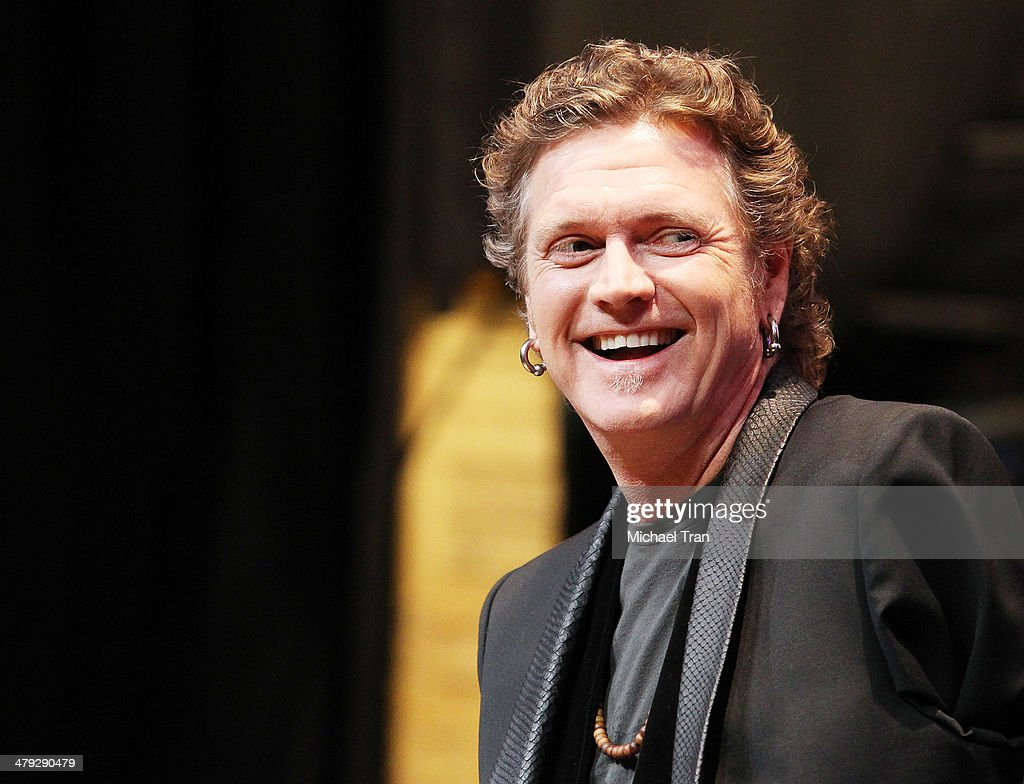 Rick Allen of Def Leppard speaks onstage during the KISS and Def Leppard announcment of their 2014 Summer tour held at The House of Blues on Sunset on March 17, 2014 in Los Angeles, California.