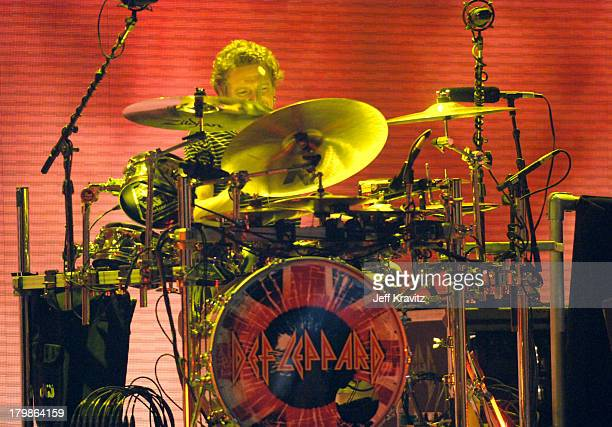 Rick Allen on Drums of Def Leppard during 2005 Spike TV Video Game Awards - Show at Gibson Amphitheater in Universal City, California, United States.