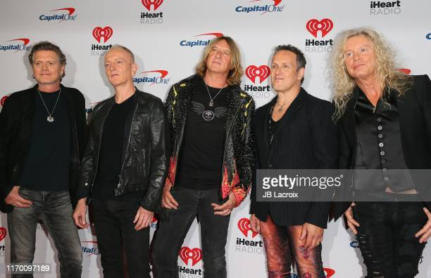 Rick Allen Phil Collen Joe Elliott Vivian Campbell and Rick Savage of Def Leppard attend the 2019 iHeartRadio Music Festival at TMobile Arena on...