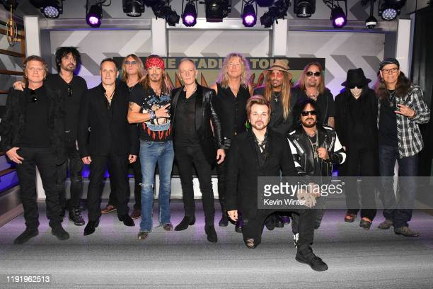 Rick Allen Tommy Lee Vivian Campbell Joe Elliott Bret Michaels Phil Collen Rick Savage Rikki Rockett CC DeVille Nikki Sixx Vince Neil Mick Mars and...