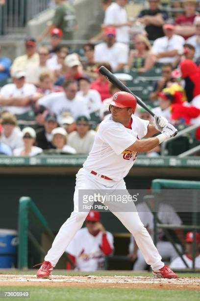 Rick Ankiel of the St Louis Cardinals bats during the game against the Washington Nationals at Roger Dean Stadium in Jupiter Florida on March 13 2007...