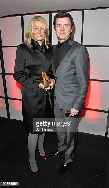 Rick Astley attends charity auction 8Rocks in aid of Cancer Research hosted by the Dallaglio Foundation at Battersea Evolution on November 6 2009 in...