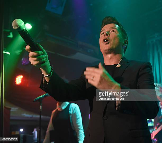 Rick Astley in concert at The Box on August 10 2016 in New York City