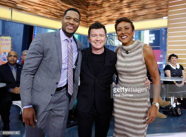 AMERICA Rick Astley performs live on 'Good Morning America' Wednesday February 15 2017 on the ABC Television Network MICHAEL